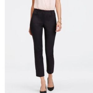 Ann Taylor signature cuffed ankle black pants 10